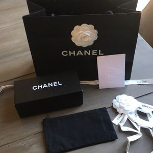 Chanel sunglasses bag and box.